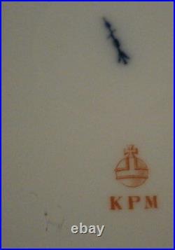 12 Antique KPM Berlin Porcelain Fish Scene Plate s Porzellan Teller Fisch Scenic