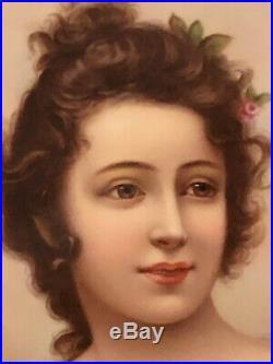 19c Antique Original KPM Porcelain Portrait Plaque Outstanding Quality