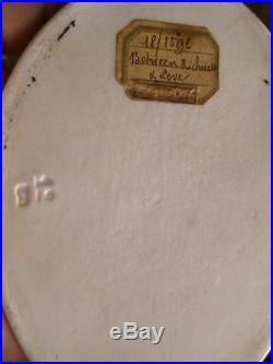 19c Victorian Hand Oil Painting KPM Porcelain Portrait Plaque Figure Group Woman