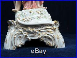 19th C Antique Kpm Berlin German Porcelain Goddess Cherub 17.25 Centerpiece