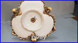 19th C Louis XVI Gilt-Bronze/ORMOLU Royal Porcelain KPM Inkwell EAGLE FINIAL