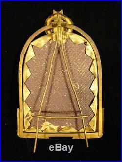 19th CENTURY KPM PORTRAIT ON PORCELAIN OF BEATRICE CENCI W. SCHAUS GILT FRAME