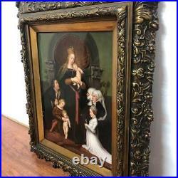 19th Century Antique KPM Porcelain Plaque Darmstadt Madonna Painting