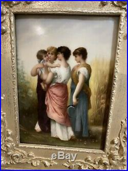 19th Century Hand Painted Porcelain Plaque With Frame KPM