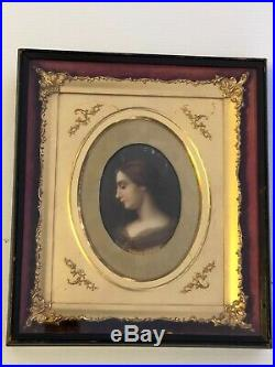 19th Century KPM Porcelain Portrait St. Cecilia Nov 22 Feast Day