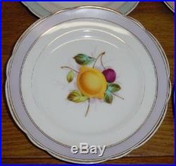 6 Antique KPM Porcelain Hand Painted Fruit Decorated Plates 8 Worn