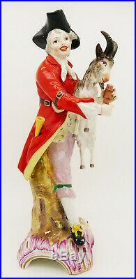 A Rare Antique KPM Berlin Porcelain Figurine 18th Century Boy with Goat restored