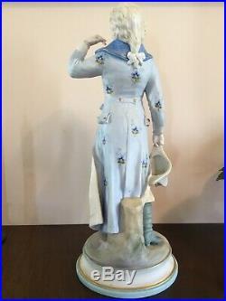 ANTIQUE 15 KPM Germany Bisque Porcelain Hand Painted Figure Soldier