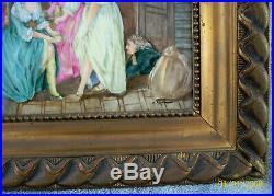 ANTIQUE 1900's 11x7 SIGNED A. KAUFMANN KPM HAND PAINTED NUDE PORCELAIN PLAQUE
