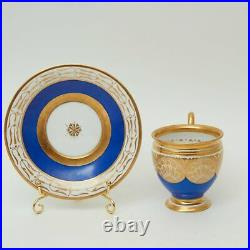 Antique 1780 Original France KPM old Paris Porcelain Plate Painted Gilding Stamp