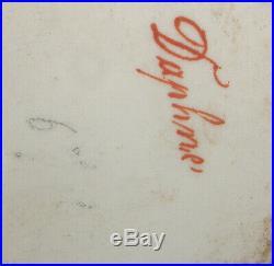 Antique 1800 hand painted miniature portrait porcelain plaque Nymph Daphne KPM