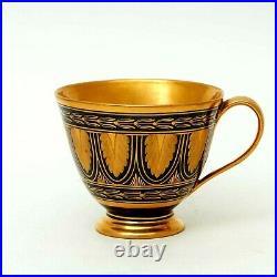 Antique 1815 Original Germany KPM Porcelain Cobalt cup with gold plating Stamp