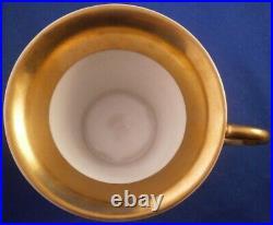Antique 1820s KPM Berlin Porcelain Dolphin Handle Cup & Saucer Porzellan Tasse