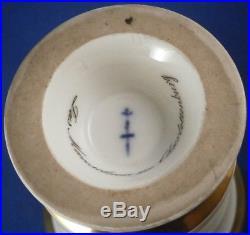 Antique 1820s KPM Berlin Porcelain Scenic Cup & Saucer Porzellan Tasse Scene