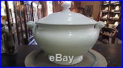 Antique 1837-1844 White Kpm Soup Tureen With Ladle