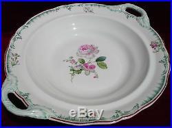 Antique 1850 Germany Kpm Porcelain Large Floral Low Compote Scepter Pfennig Mark