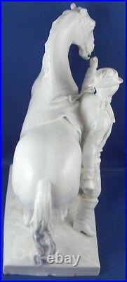Antique 18thC KPM Berlin Porcelain Horse & Rider Figurine Porzellan Figure Figur