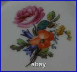 Antique 18thC KPM Berlin Porcelain Polychrome Floral Cup Saucer Porzellan Tasse