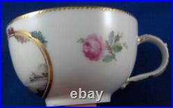 Antique 18thC KPM Berlin Porcelain Scenic Cup & Saucer Porzellan Tasse German