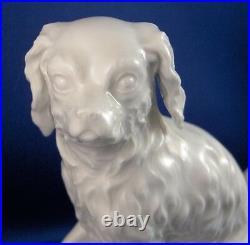 Antique 18thC KPM Berlin Porcelain Spaniel Dog Figurine Porzellan Hund Figure