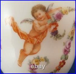 Antique 18thC KPM Berlin Porcelain Trembleuse Lidded Cup Saucer Porzellan Tasse