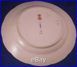Antique 1909 KPM Berlin Porcelain Plate Royalty Monogram Porzellan Teller King