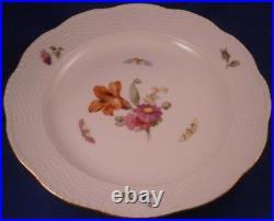 Antique 1912 KPM Berlin Porcelain Plate Royalty Monogram Porzellan Teller Kaiser