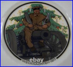 Antique 1917 Art Nouveau KPM Berlin Porcelain Christmas Plate Porzellan Teller