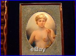 Antique 19ThC KPM Style Nude Painting On Porcelain C1880-90 Signed E. Peln