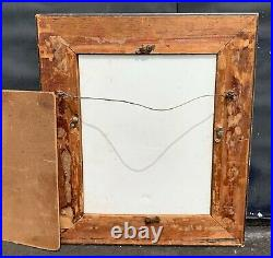 Antique 19th/20th C. Porcelain Plague Portrait Painting of Fisher Girl with Net