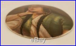 Antique 19th Century Victorian Portrait KPM Hand Painted Oval Porcelain Plaque