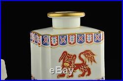 Antique 19th century KPM porcelain tea jar, gilt, handpainted, FO DOG