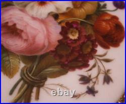 Antique 19thC French Porcelain Floral Scene Plaque Scenic Porzellan Bild Flowers