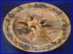 Antique 19thC KPM Berlin Porcelain Angel Scene Plate Porzellan Teller Scenic