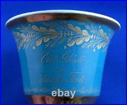 Antique 19thC KPM Berlin Porcelain Cup & Saucer Porzellan Tasse German Germany