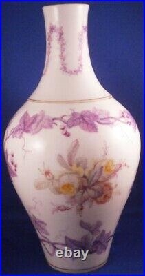 Antique 19thC KPM Berlin Porcelain Grapevine Floral Vase Porzellan Blumenvase