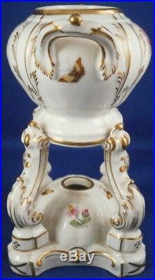 Antique 19thC KPM Berlin Porcelain Potpourri Dish Porzellan Duftschale Vase