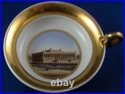 Antique 19thC KPM Berlin Porcelain Scenic Scene Cup & Saucer Porzellan Tasse