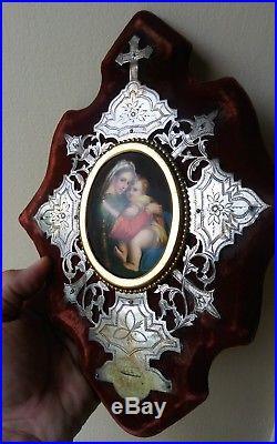 Antique 19thC KPM PORCELAIN PLAQUE Religious HAND PAINTED Icon