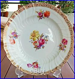 Antique 20th C KPM Royal Berlin Hand Painted Porcelain Plate Floral