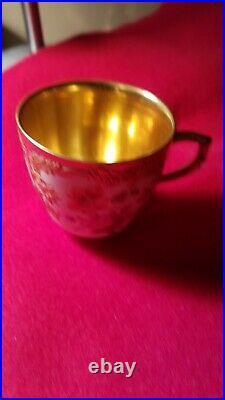 Antique 20th KPM Berlin Porcelain Neuzierat Cup Porzellan Tasse German