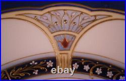 Antique 20thC Art Nouveau KPM Berlin Porcelain Jewelled Plate Porzellan Teller
