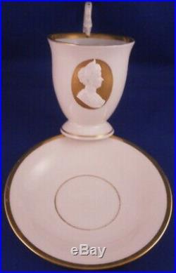 Antique 20thC KPM Berlin Porcelain Queen Auguste Cup & Saucer Porzellan Tasse