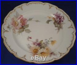 Antique 20thC KPM Berlin Porcelain Weichmalerei Floral Plate Porzellan Teller