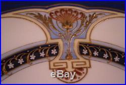 Antique Amazing Art Nouveau KPM Berlin Porcelain Jewelled Plate Porzellan Teller
