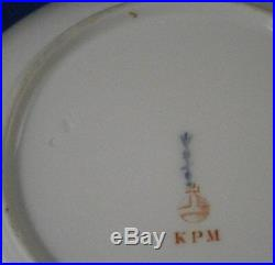 Antique Art Nouveau KPM Berlin Porcelain Scenic Saucer Porzellan Untertasse