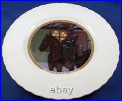 Antique Art Nouveau KPM Berlin Porcelain WWI Christmas Plate Porzellan Teller