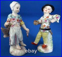 Antique Berlin KPM Continental German Porcelain Small Figure and Figurine