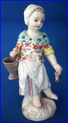 Antique Berlin KPM Continental German Porcelain Small Figure and Figurine