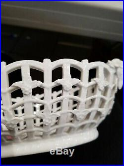 Antique Berlin KPM Porcelain Fruit & Pastry Bowl Basket
